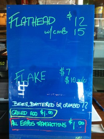 Skippers Floating Eatery: Some of Menu