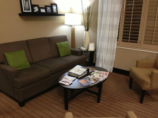 Sleep Inn: Relax and socialize or read something while waiting.