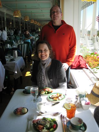 The Grand Hotel Luncheon Buffet : Our window seat