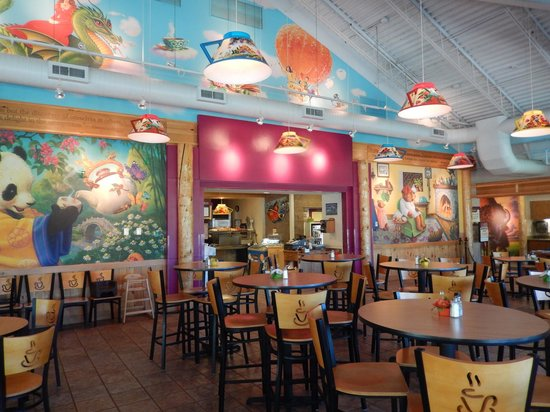 Celestial Cafe: Bright and Cheery Interior