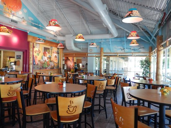 Celestial Cafe: Fun Light Fixtures and Wall Images at the Cafe