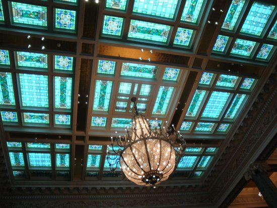 Joseph Smith Memorial Building: The impressive lobby ceiling