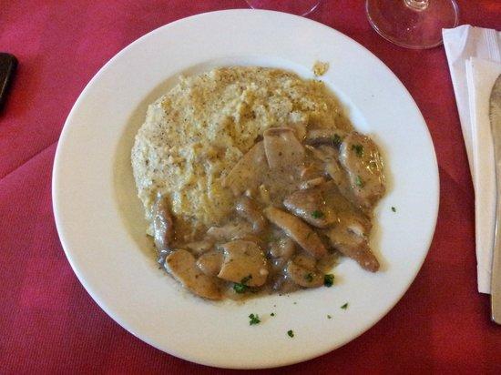 Il Circolino Citta Alta: polenta taragna con funghi trifolati