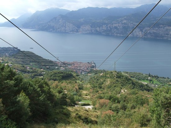 Monte Baldo: Looking back to Malcesine from the Cable car