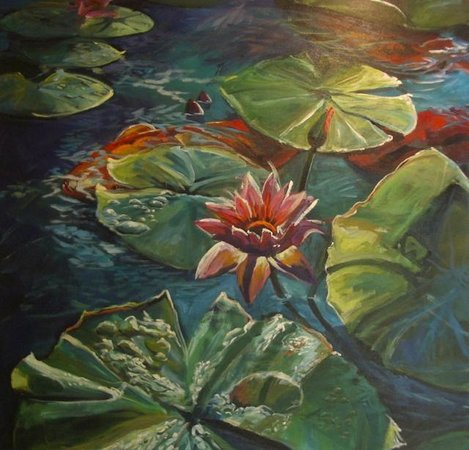 Kathleen Carrillo Galleries: Water Lilies, Tropical Delight Series