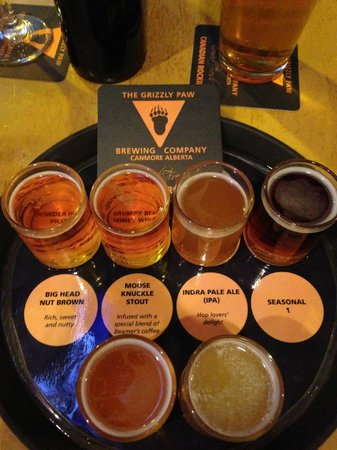 The Grizzly Paw Brewing Company: Highly suggest the taster