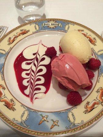 Restaurant Paul Bocuse: Mon dessert choisi pour faire light. Glace à la vanille et aux fruits rouges