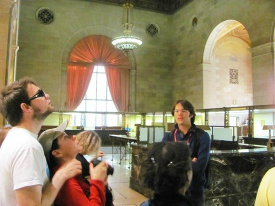 Free Old Montreal Tours: Inside a bank building.