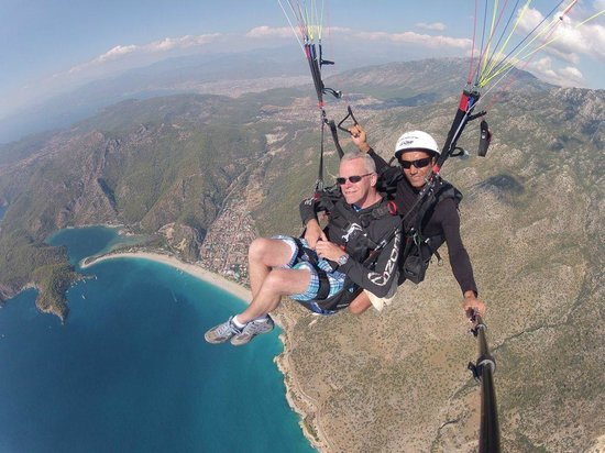 Sky Sports Paragliding: Paragliden 1900 meter boven Oludeniz omgeving Fethiye Turkije