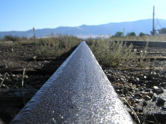Nevada Northern Railway Museum: A dewy morning on the tracks