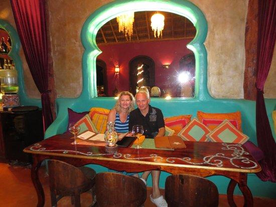 Cabanas La Luna: the restaurant Las Estrellas serves great food