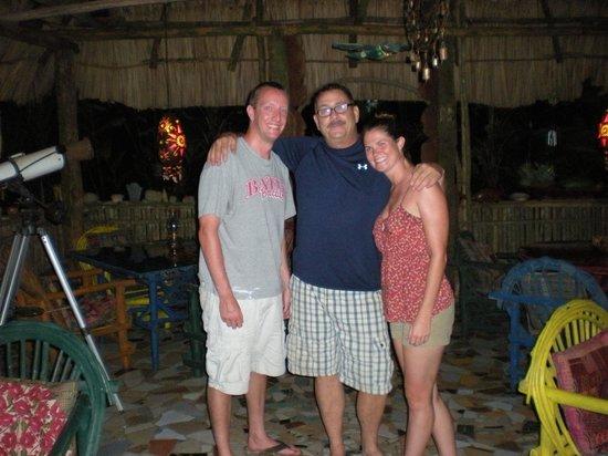 Macaw Bank Jungle Lodge : Us and Ron