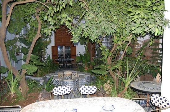 Riad Lune et Soleil: Courtyard breakfast area