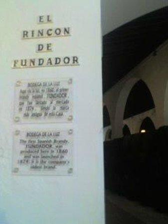 Bodegas Fundador: Rincón Fundador.