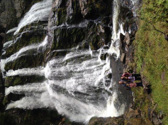 Cullasaja Falls: At the base of the Lower Falls