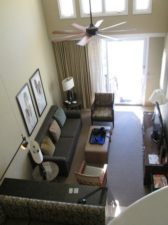 Fairmont Kea Lani, Maui: View of living room from upstairs