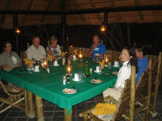 Tangala Safari Camp: One night the dinner was here. Guests came from around the world and were mostly interesting fol