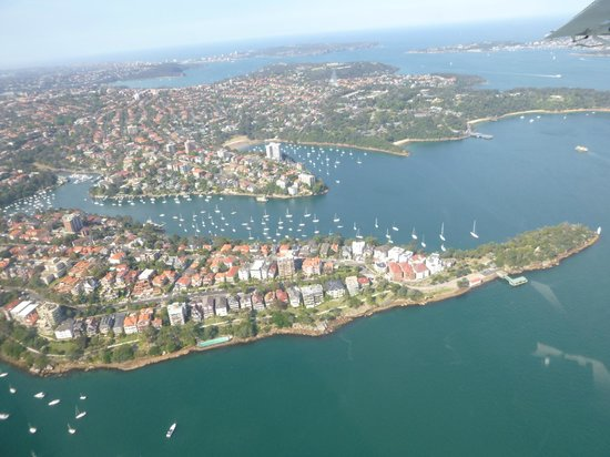 Sydney Seaplanes: another shot from the plane