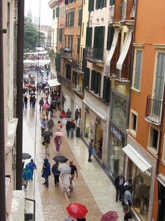 La Finestra sull'Arena: View from living room balcony.