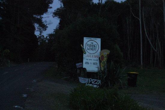 Purangi Estate Limited: Road Sign