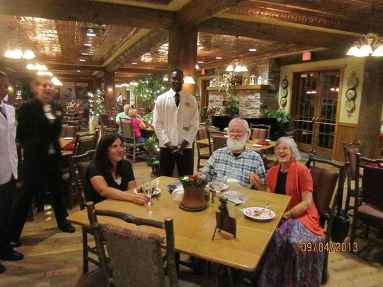 Dobyns Dining Room: And the staff all sang Happy Birthday...lovely