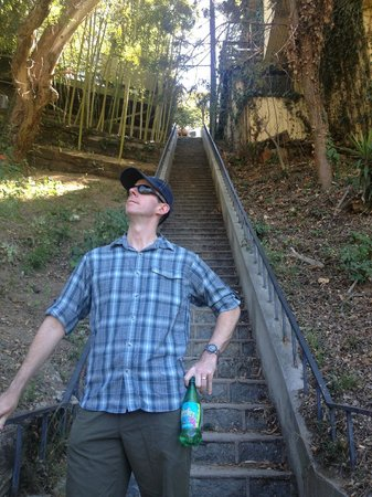 LA Active Adventure Tours: My husband with the steps behind him