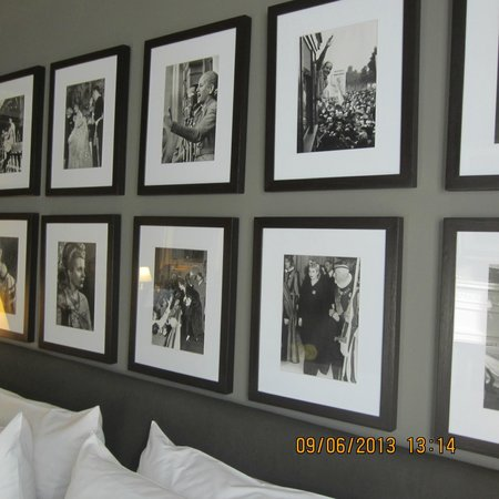 Legado Mitico: Eva's photos adorn the wall