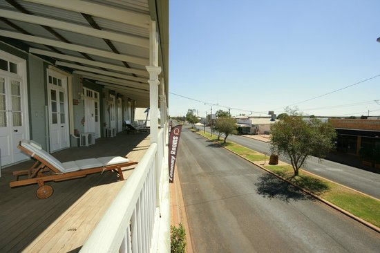 Quilpie, Australia: View of the street from the veranda