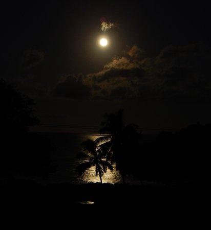 Haleakala Shores Condos: A 5AM full moonset from the Lanai