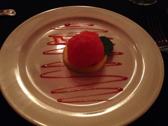 Old City House Inn and Restaurant: Our sorbet to cleanse our pallette before our entree
