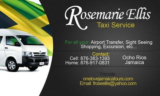 My Business Card Picture Of One Love Jamaica Tours Ocho Rios