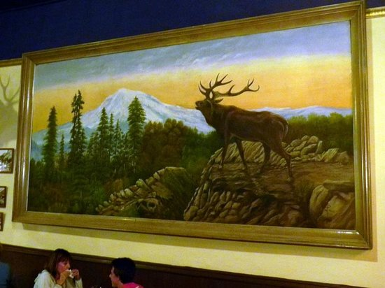 The Saloon at the Historic Western Hotel: Painting on Saloon Wall