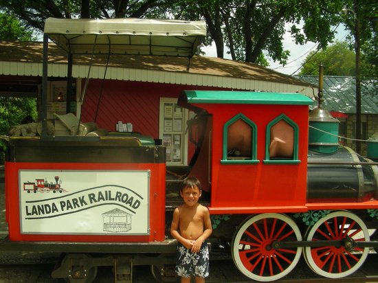 Landa Park: train ride