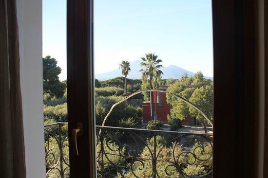 Hotel Forum Pompei : top floor juliet balcony with a view