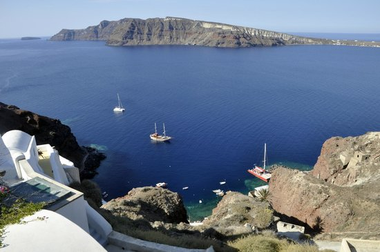 Esperas Santorini : View of the sea from the room.