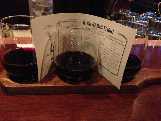 Sazerac: Wine flight