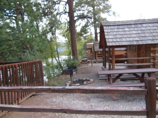 Back Of Cabins Rv Sites Visible Picture Of Durango