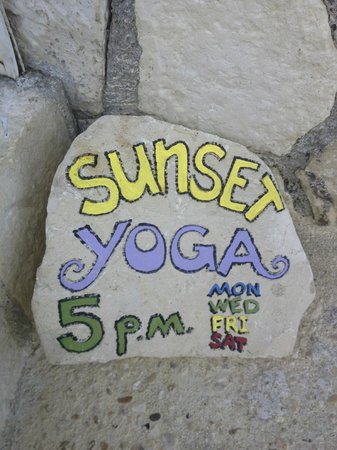 sunset yoga by the sea