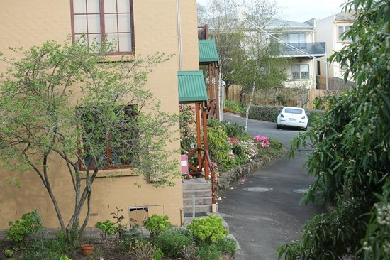 Fiona's Bed and Breakfast - Launceston B&B: view from our townhouse to other units