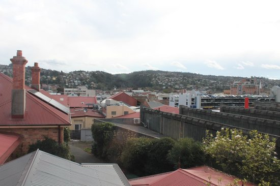 Fiona's Bed and Breakfast - Launceston B&B: view towards launceston from top room