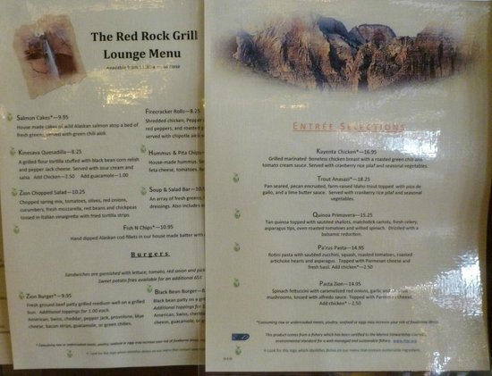 Red Rock Grill: Menu 2