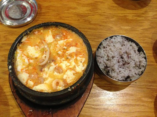 Soontofu jjigae picture of asiana korean restaurant for Asiana korean cuisine restaurant racine