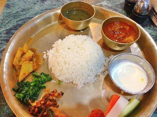 Typical nepalese meal picture of thakali kitchen for Kitchen set in nepal