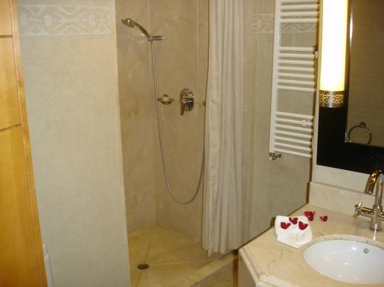 La Maison Arabe: Full size shower plenty of hot water & nice amenities