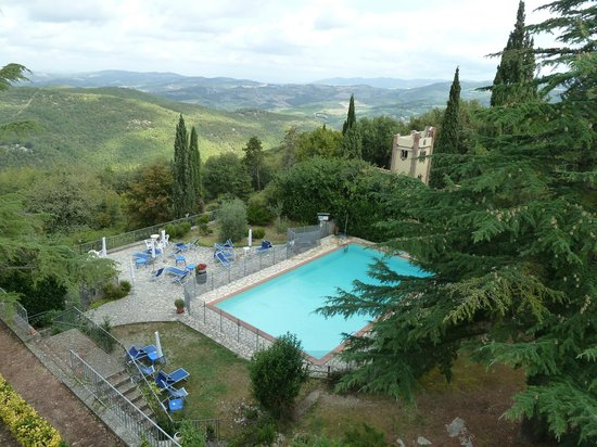 Villa Sant'Uberto Country Inn : Looking out over the pool