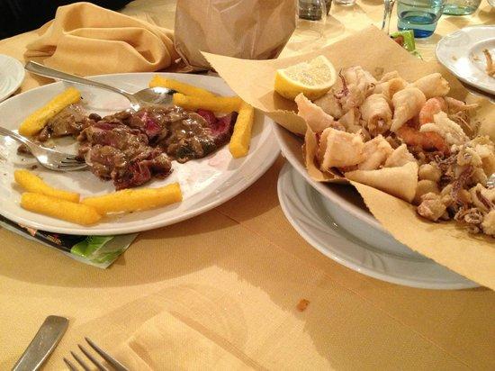 Il Campagnolo: tagliata e fritto di mare