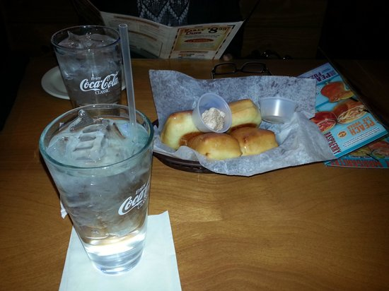 Texas Roadhouse: Warm bread and cinnamon butter to start!