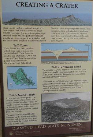 ไดมอนด์เฮด: Information panel at the base of crater