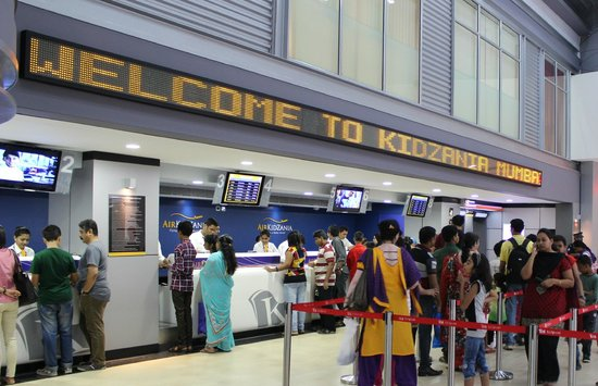 Airport and Ticket Counters of KidZania Mumbai