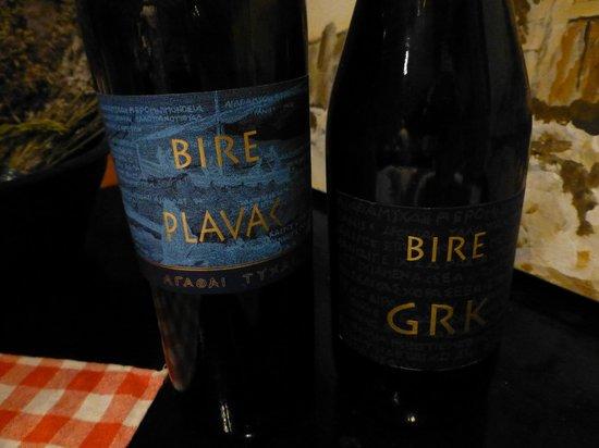 Korcula Explorer: 1件目で頂いたワイン